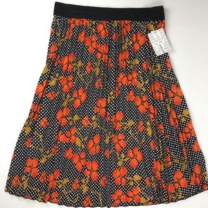 Lularoe Jill skirt black and orange cherry blossom